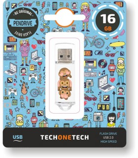 MEMORIA USB 16 GB PENDRIVE EMOJITECH NO-EVIL MONKEY