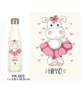 BOTELLA TERMO ACERO INOX 500 ML. KIDS HIPPO